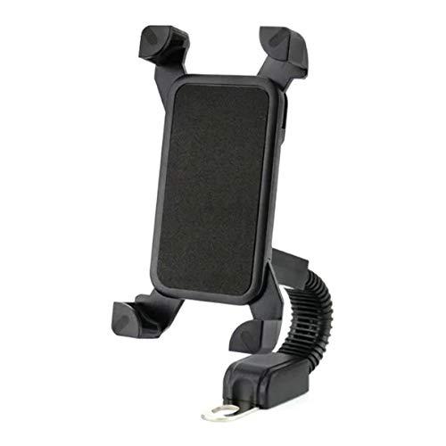 Fransande - Soporte universal ajustable para teléfono móvil de moto de 4 a 7 pulgadas, color negro