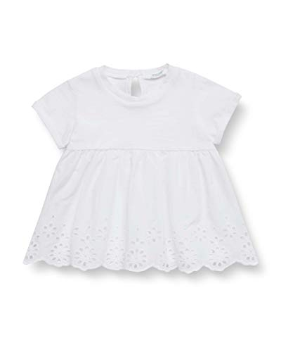 United Colors of Benetton T-Shirt Camiseta de Tirantes, Blanco (Bianco 101), 86/92 (Talla del Fabricante: 90) para Bebés