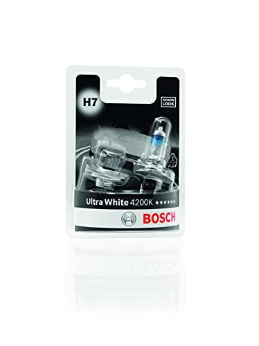 Bosch Lampadine Faro Ultra White, H7 12V 55W PX26d, (Lampadina x2)