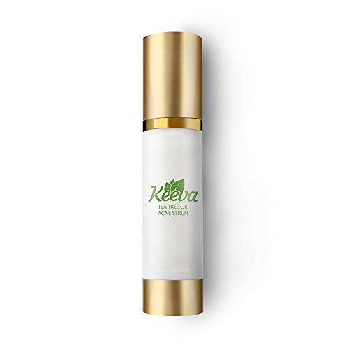 Tea Tree Oil Acne Serum by Keeva - Treats Blemishes, Spots, Scars, Bacne, Pimples, Blackheads,...