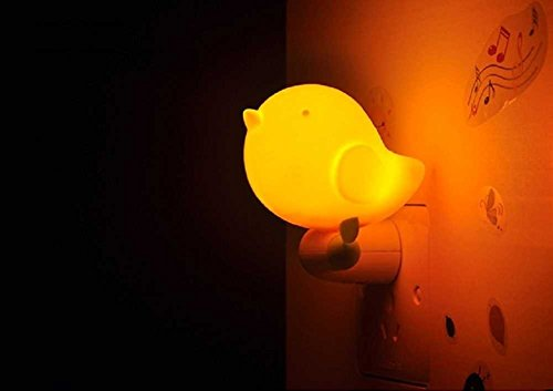 [V2]GoLine LED Baby Night Light w/Light Sensor, Jungle Bird Toddler Wall Light, Bedroom D¨¦cor Light for Kids, Plug&Play, Super Low Power Consumption, Average Working Life Over 100000 Hours.(Orange)