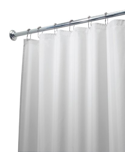 Vinyl Shower Curtain Liner with Rustproof Metal Grommets for Bathroom Showers and Bathtubs – Waterproof Shower Liner – Clear, 70 x 72