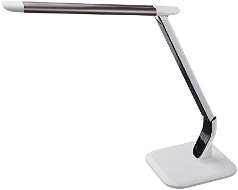 AIZYR LED 10W Tischlampe Moderne Kreative Wohnheim Büro Studie Beleuchtung Dekoration USB Lade Einstellbare Arme Touch Dimmen Schalter Schreibtischlampe,braun