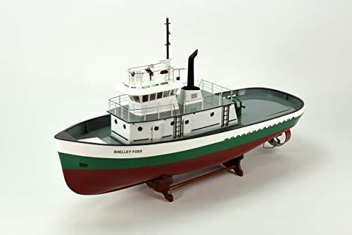 "Shelley FOSS Tugboat Vessel Handmade Wooden Boat Model 36"" - RC Ready"