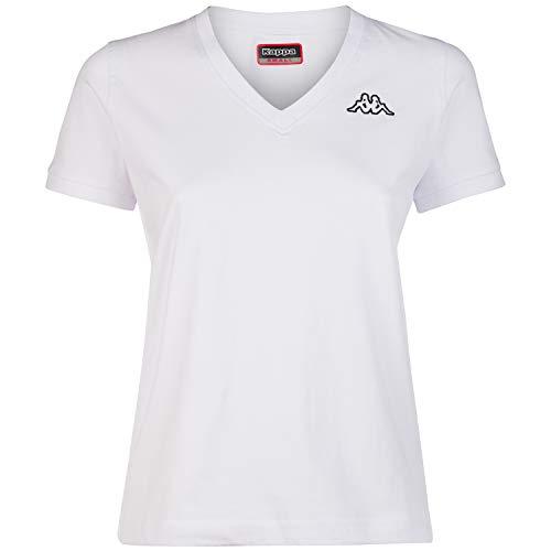 Kappa Logo Cabou Camiseta, Blanco, M para Mujer