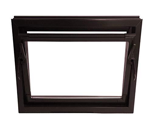 ACO 60cm Nebenraumfenster Kippfenster Isoglasfenster Fenster braun Kellerfenster, Größe Kippfenster:60 x 40 cm
