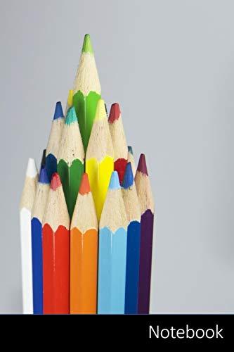 Notebook: Lápiz, Color, Colorido, Verde Cuaderno / Diario / Libro de escritura / Notas - 6 x 9 pulgadas (15.24 x 22.86 cm), 150 páginas, superficie brillante