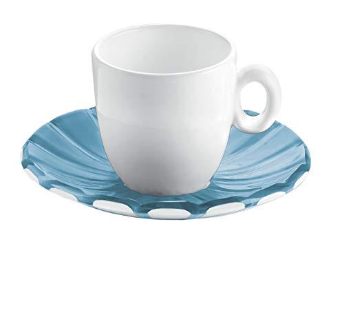 Guzzini 8008392271147 - Juego de 2 tazas de café, color gris