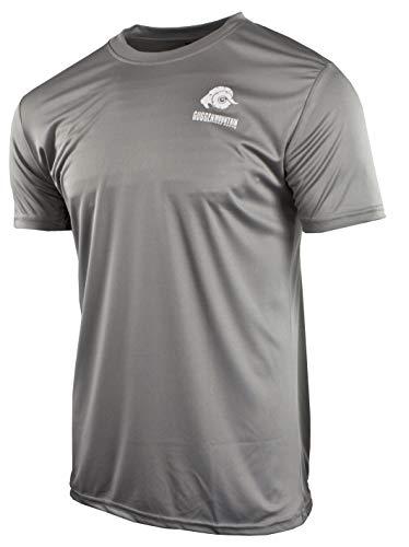 GUGGEN Mountain Herren Funktiosshirt Funktionswäsche Funktions T-Shirt Sport Outdoor Aktivitäten Schnelltrocknend Kurzarm Atmungsaktive Dunkelgrau XL