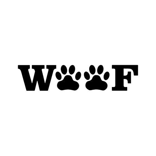 MCTYLI 15,2 cm * 3,3 cm Pfotenabdrücke Haustier Vinyl Aufkleber Auto Aufkleber Tier Rettungshund Schwarz/Silber