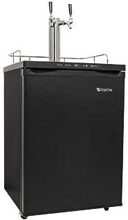 EdgeStar KC3000TWIN Full Size Dual Tap Kegerator with Digital Display - Black