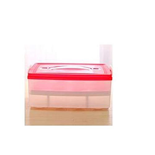 FEGSX Caja de almacenamiento de cocina 24 huevos organizador nevera organizador de huevos organizador de huevos portátil al aire libre contenedor de almacenamiento 0414 (color: rojo)