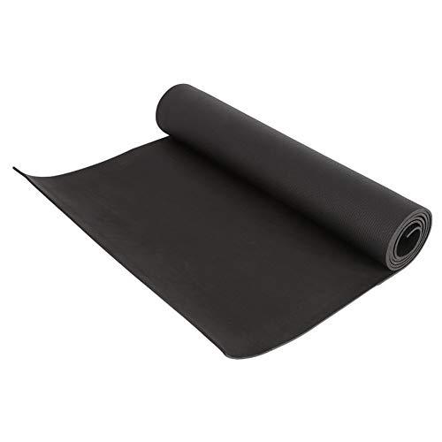 Gaodpz Yoga Amantes 4 mm EVA Yoga Mats Manta Antideslizante de EVA de Gimnasia Deporte Salud Bajar de Peso Ejercicio de la Aptitud del cojín (Color : Black)