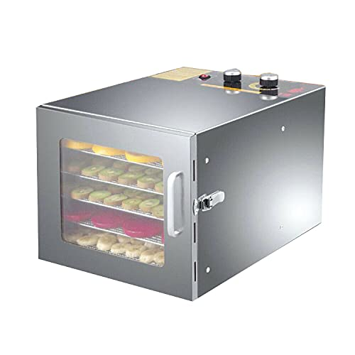 Futchoy 35-70 ℃ - Deshidratador profesional (acero inoxidable, 6 pisos, para frutas, verduras, carne, deshidratador)