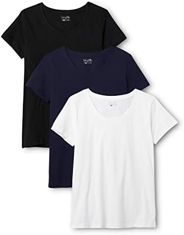 Berydale Camiseta Mujer Cuello Redondo, pack de 3