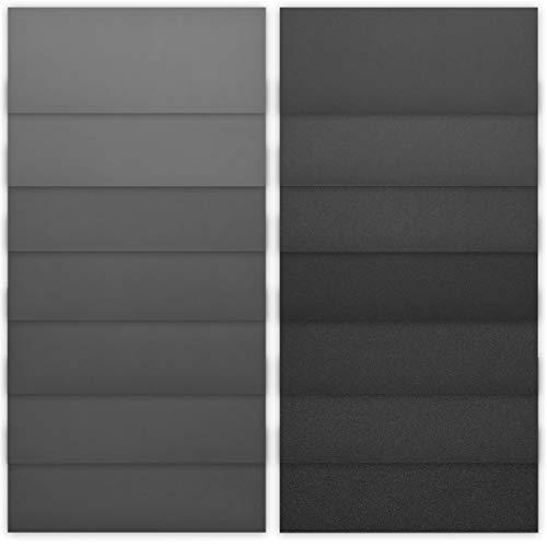 Navaris 42x Hand Schleifpapier nass und trocken - 120-3000 Körnung - 93x230mm - wasserfest - Nassschleifpapier Set für Metall Holz Keramik Stein