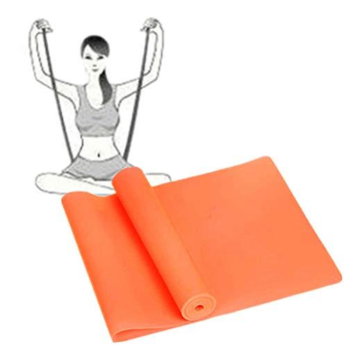 Bandas De Resistencia Cintas Elasticas Musculacion Banda elástica Gimnasio Bandas Bandas de Yoga Equipo de Ejercicio para el hogar Orange,-