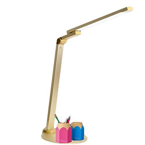 Billaew - Lámpara de escritorio LED con función de carga, respetuosa con los ojos, con control táctil