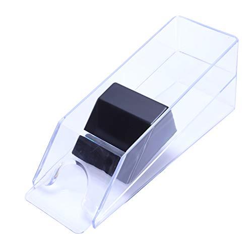 Senmubery Profesional Deluxetexas Hold'em Baccarat Poker Dealer Poker Card Shoe 1-6 Opcionalmente diputado (Transparente)