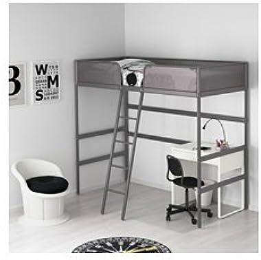 Ikea Cadre de lit mezzanine gris foncé