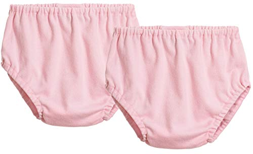 City Threads 2-Pack Baby Girls' and Baby Boys' Unisex Diaper Covers Bloomers Soft Cotton, Pink/Pink, 12/18 m