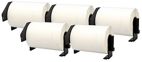 5X DK-11241 102 x 152 mm Versandetiketten (200 Stück/Rolle) kompatibel für Brother P-Touch QL-1050, QL-1050N, QL-1060N, QL-1100, QL-1110NWB Etikettendrucker