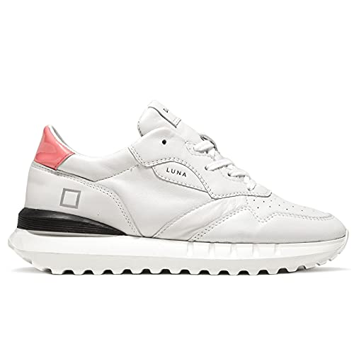 D.A.T.E. Luna W 341-LN-CS-WP Damen-Sneaker, Klasse: Weiß und Rosa, Größe:, Weiß - Weiß - Größe: 38 EU