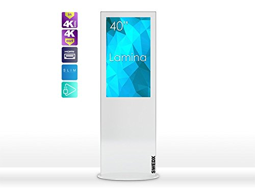 SWEDX Lamina, Digital Signage Display Stele 102 cm (40 inch) wit, 4K in 4K out