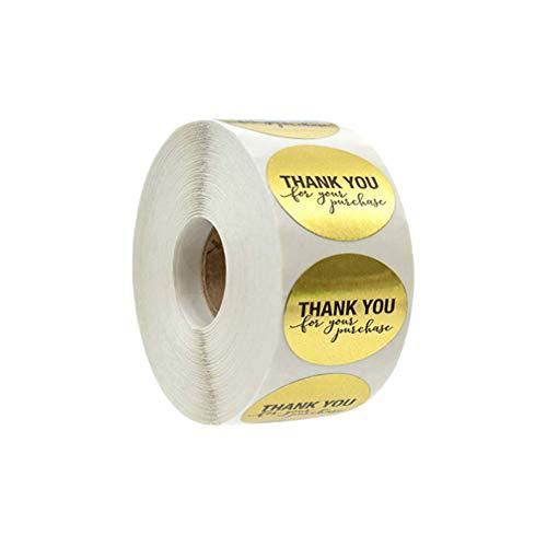 NUOBESTY gracias por su compra pegatinas 500 etiquetas por rollo