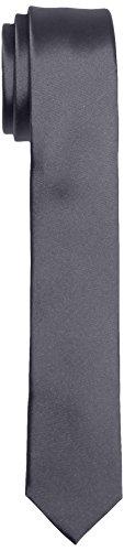Calvin Klein TREND SLIM 5 cm Cravate, Gris (charbon 015), taille unique Homme