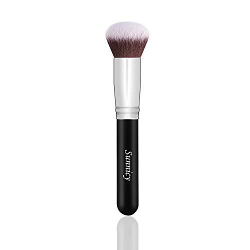 Round Foundation Kabuki Brush Mineralpuder Flüssiger Kosmetik Make-up PinselHair material: Synthetic Fiber; Handle material: wooden handle.