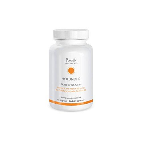 Holunder Kapseln | Gutes für die Augen mit Vitamin A und Vitamin B2 | 60 St. | PlantaVis
