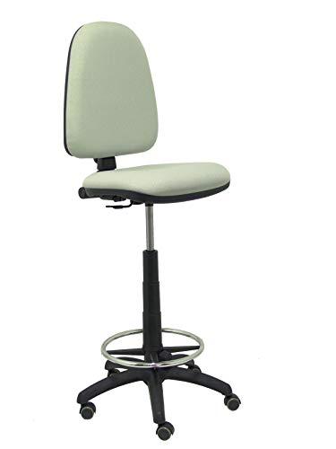 Piqueras Y Crespo T04CP Ayna bali- Taburete ergonómico, regulable en altura, aro reposapiés y ruedas de parquet, 100/123x46x40 cm,  Gris
