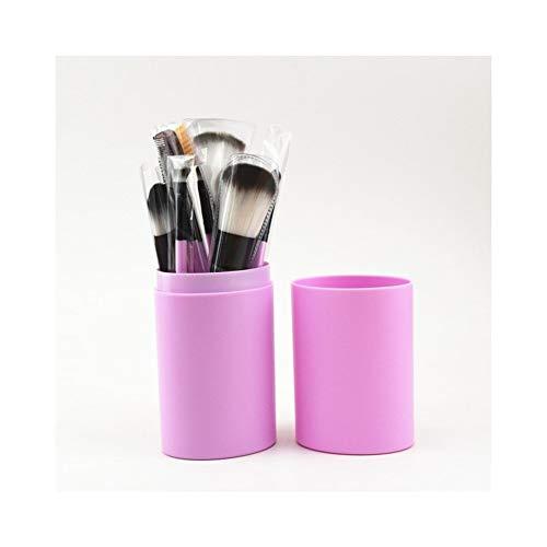 Sets de pinceaux de maquillage 12 débutants tambour brosse de maquillage ensemble pinceau de maquillage ensemble complet antipoussière grande capacité baril brosse outil de maquillage beauté brosse de