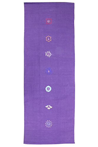 Yoga Mad Unisex Volwassene Katoen Chakra Patroon Yoga Tapijt