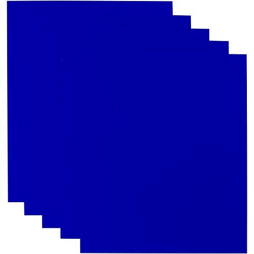 Handy Crafts Heat Transfer Vinyl HTV Iron On 12 x 10 Sheets for T-Shirts - Pack of 5 (Royal Blue) | Compatible with Silhouette Cameo or Cricut and Heat Press
