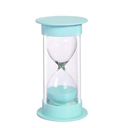 Sand Timer 5/10/15/30/60 minutos, reloj de arena de seguridad para niños, asistente de gestión del tiempo, regalo creativo, decoración de la sala de estar, oficina, 10 minutos en verde macarrón