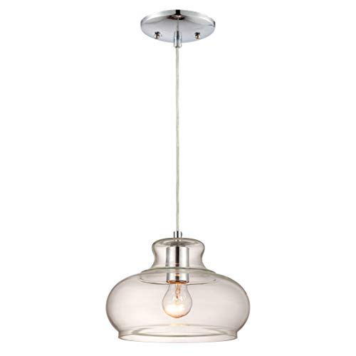 Westinghouse Lighting Lámpara de Techo Colgante de 1 Luz E27, Cromo, 151 cm