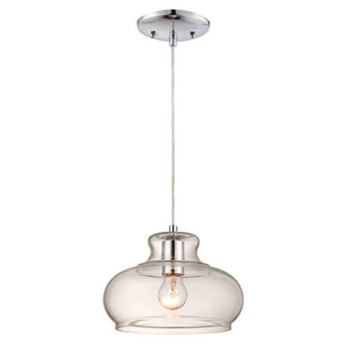 Westinghouse Lighting Lampada a Sospensione E27, Cromo, acciaio