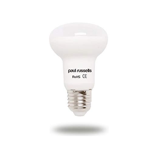3Pack 8W Reflector LED Bombillas E27ES rosca Edison Paul Russells brillante 8W = 65W foco R63Spot Light 270haz lámpara 2700K luz blanca cálida, 65W, recambio incandescente