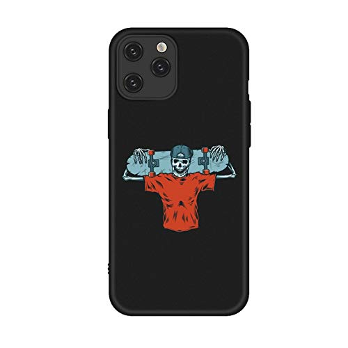 DAMAIA DMKJFFF Skateboard Skeleton Telefon-Kasten for iPhone 12 11 Pro Max Xs Max Xr TPU Fälle for iPhone 7 6s 8 Plus Soft Cover Hallowm (Color : 17, Material : for iPhone 11 pro)