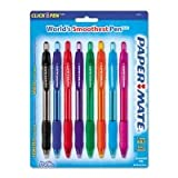Papermate Profile World's Smoothest Pen, 8 Pack, Extra Smooth, Assorted Ink Colors