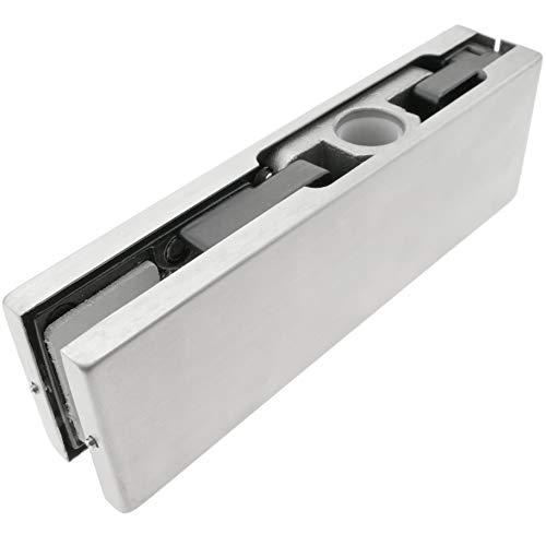 PrimeMatik LK081-VCES Pernio y bisagra Superior de Aluminio para Puerta de Cristal...