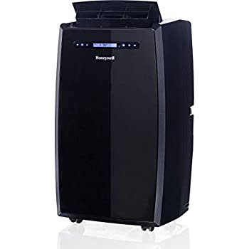 Honeywell MN14CHCSBB Portable Air Conditioner with Heat Pump Dehumidifier & Fan Cools & Heats Rooms Up to 450-550 Sq Ft with Remote Control Black