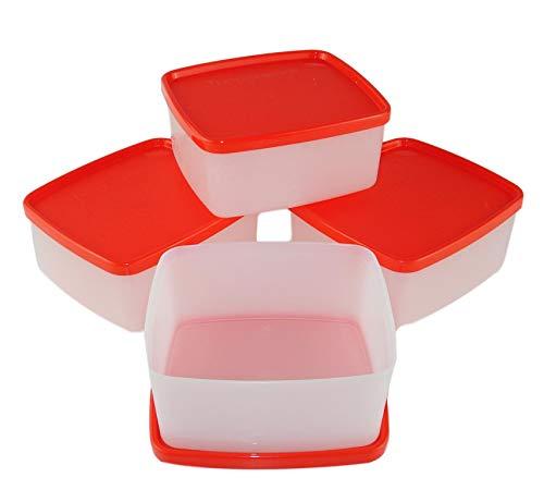 TUPPERWARE Gefrier-Behälter 400ml rot weiß G01 kleine Behälter (4) Polarstern