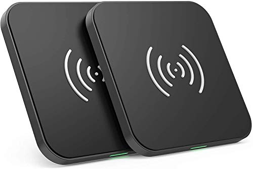 Burhetten 2 Pack Wireless Charger,Qi-Certified 10W Max Fast Wireless Charging Pad Compatible Cell Phone and Bluetooth headsets (Color : Black)