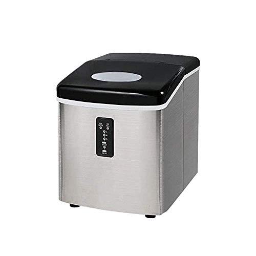 Aanrecht Ice Maker Machine, Counter Top IJsmachine, 18 kg ijs per 24 uur, ijsblokjes klaar in 6-10 minuten, 3 selecteerbare Cube Maten, Silver