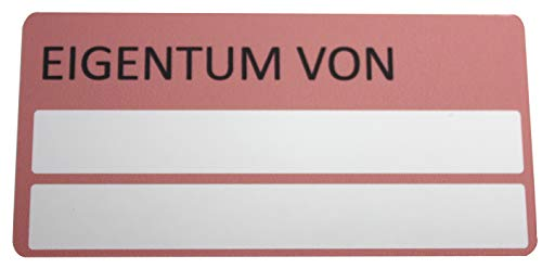 Industrieprofi Eigentums-Aufkleber auf selbstzerstörender Sicherheitsfolie 17 Stück auf A4 Bogen 75 x 37 mm (1)