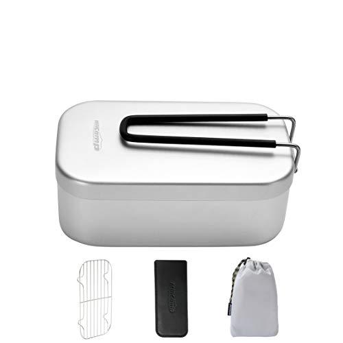 MiliCamp MR-250 メスティンセット アルミ飯盒 キャンプ用品 災害時用 半自動炊飯 バリ取り済み 色々料理で...