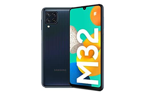 Samsung Smartphone Galaxy M32 con Pantalla Infinity-U FHD sAMOLED de 6,4 Pulgadas, 6 GB de RAM y 128 GB de Memoria Interna Ampliable, Batería de 5000 mAh y 25W Carga rápida Negro (ES Versión)